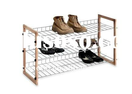 metal shoe rack, shoe stand, fashion house supplier, shoe rack 3-tier