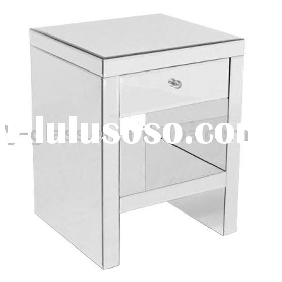 new fashion mirrored french furniture mirrored bedside table beside table handmade home furniture---
