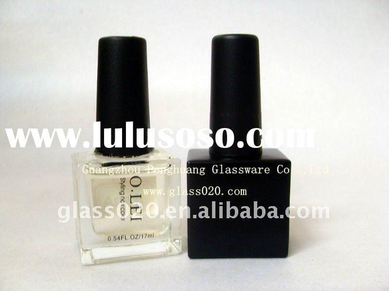 noble square nail polish bottle with brush
