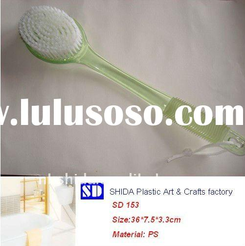plastic long handle bath brush & back brush