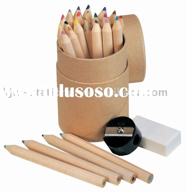 school stationery set -color pencil set