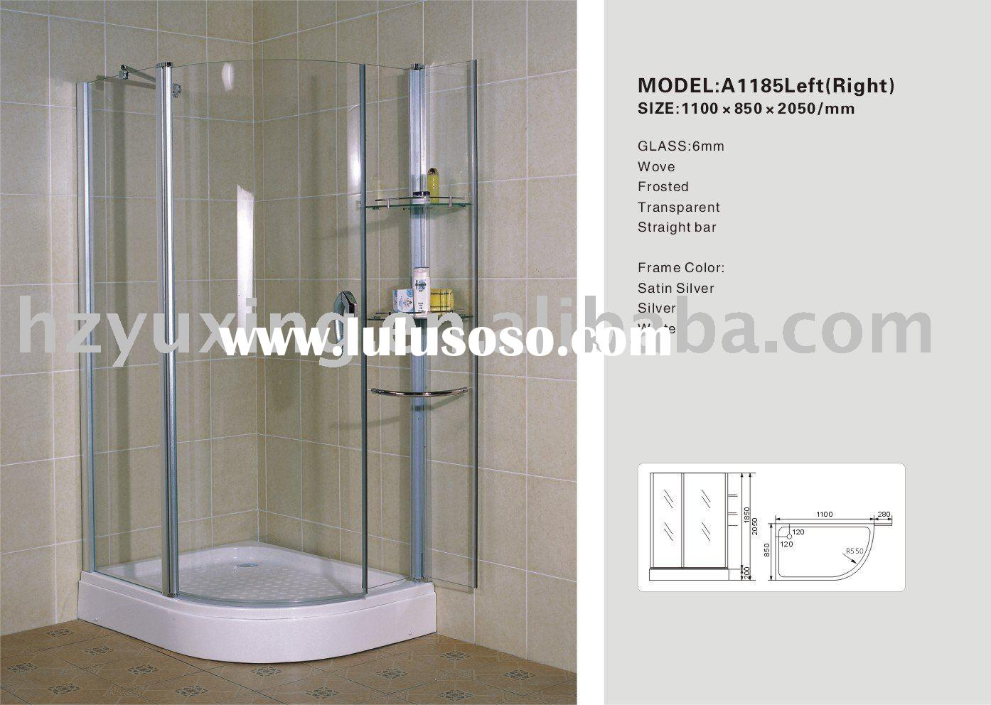 simple shower room high quality tempered glass shower bathroom shower enclosure A1185Left(Right)
