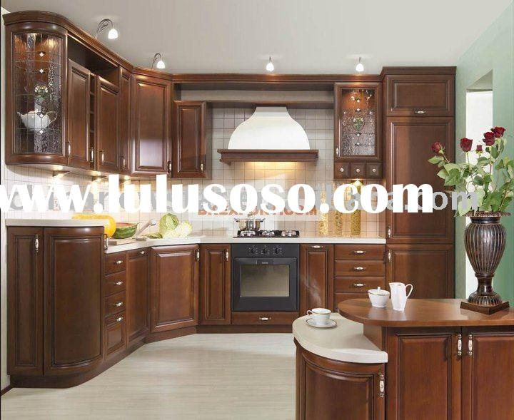 Cheap kitchen cabinet kc2025 for sale price china for Cherry wood kitchen cabinets price