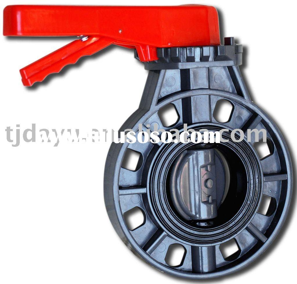 wafer type UPVC butterfly valve A (Lever handle type)/plastic butterfly valve