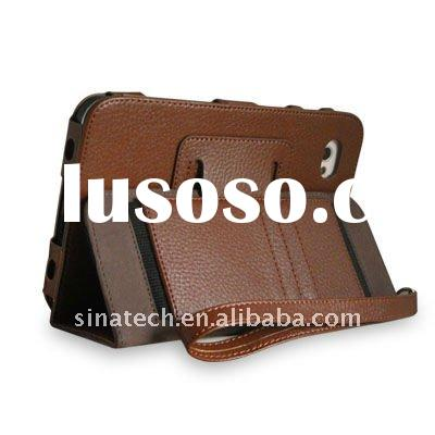 wallet leather case for galaxy tab p1000