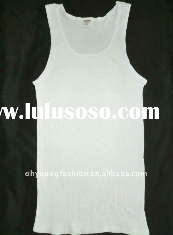wholesale factory 100 cotton simple blank white pure tank tops