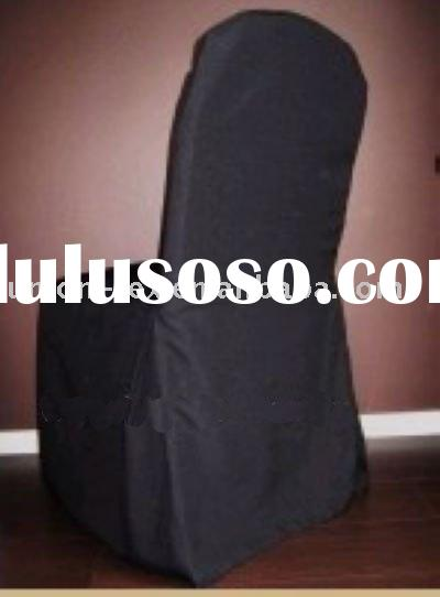 Black Polyester Chair Cover For Wedding Or Banquet(UT-A-10092001)