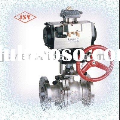 Flange Type Trunnion Mounted Motorized Ball Valve With Handle