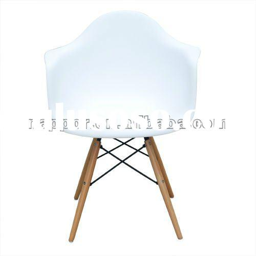 New White Eames Style Eiffel DAW Lounge Dining Chair