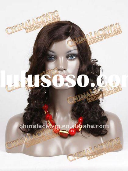 Stock African American human hair full lace wig