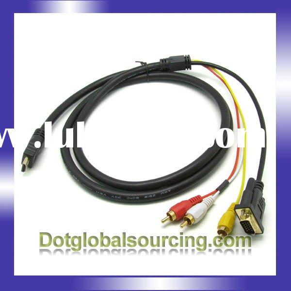 Wholesale HDMI /HDTV To VGA/ RCA Adapter Cable