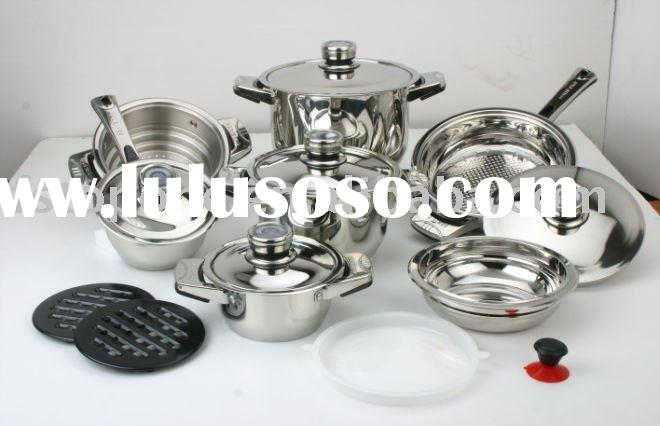 cookware set stainless steel with wide edge