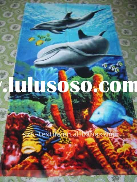 "100% Cotton Velour Printed Beach Towel 30""X60"" 10.5lbs/dz"