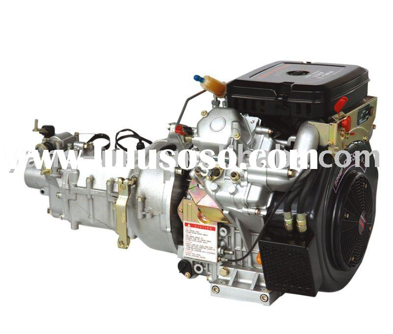 18hp,2 cylinder AIR cooled V-Twin type diesel engine with gear box power diesel engine
