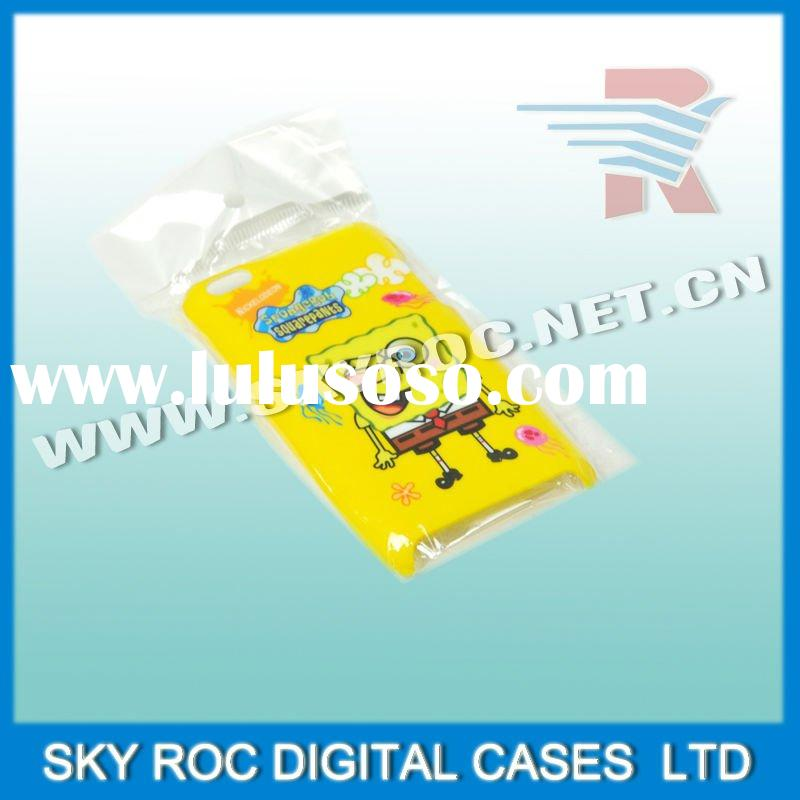 2011 newest products for mobile phone I.E touch 4 spongebob case with best quality(ROC CASE OBM)