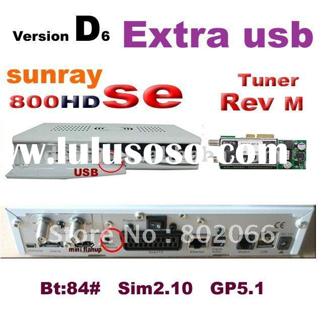 2012 free shipping lastest Rev D6 sunray 800 SE hd receiver 800 hd SE 800se satellite receiver 800hd
