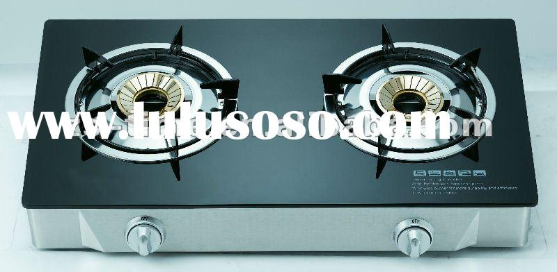 2012 hot sale tempered glass panel 2 burners cookops/gas stoves/gas cookers