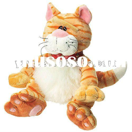30cm lovely and soft plush stuffed yellow sitting cat