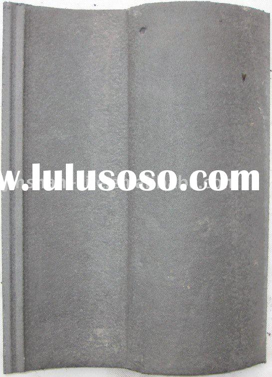 330x420mm Cement spanish roof tile of pearl grey