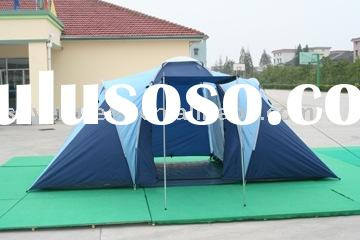 4 person tent/two rooms /double layer
