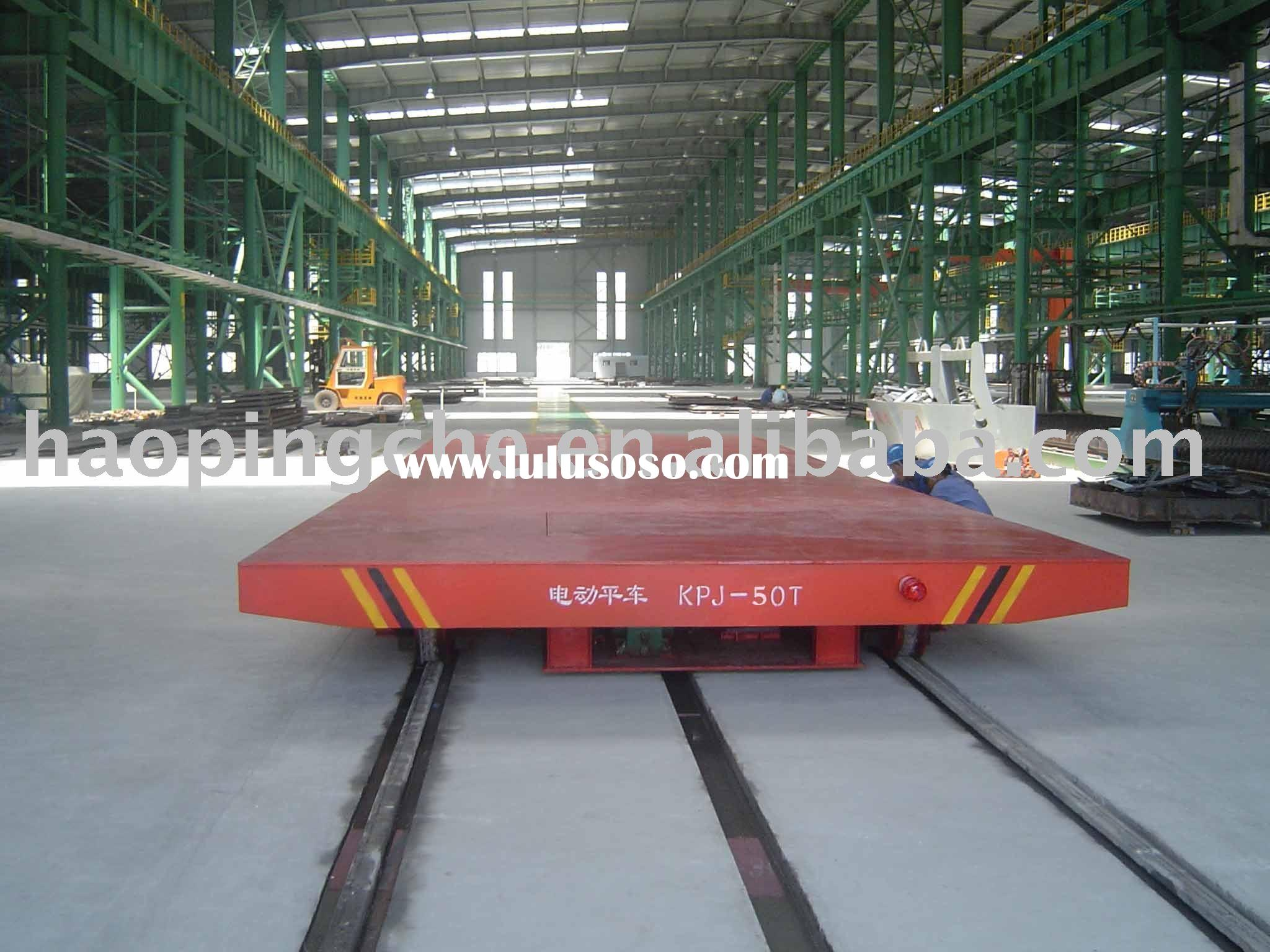 60 tons trolley rail trailer as transporter used in factory