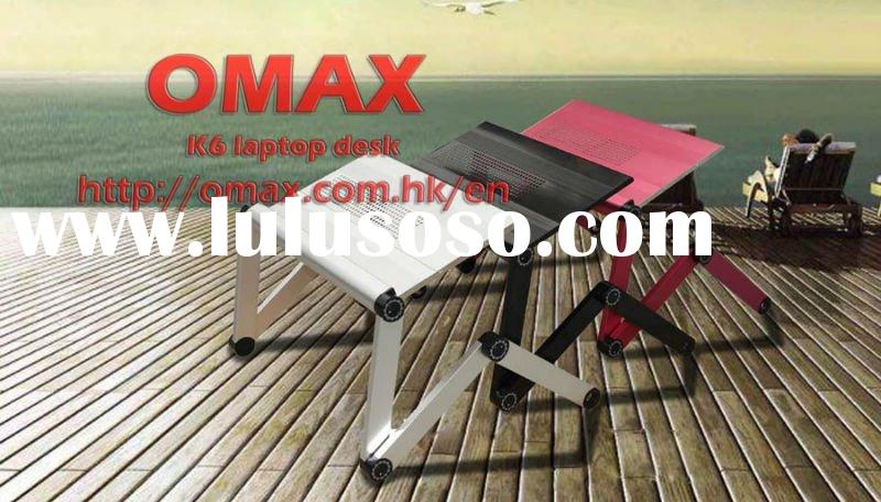 Adjustable Vented Laptop Table Laptop Computer Desk Portable Bed Tray Book Stand Multifuctional &