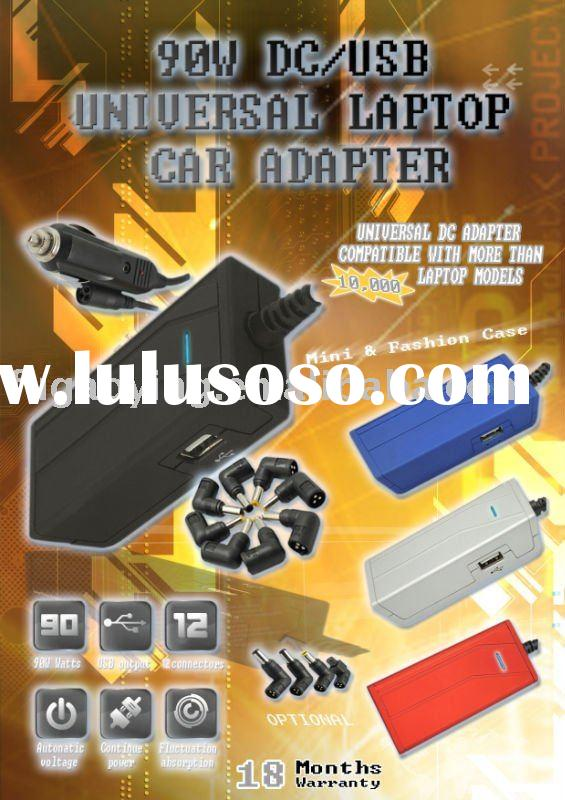 Automatic 40w 60w 75w 90w universal laptop car charger with USB