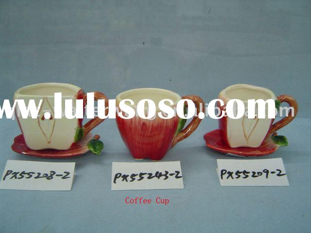 Ceramic apple shaped coffee cup(Kitchen accessory,home decorations)