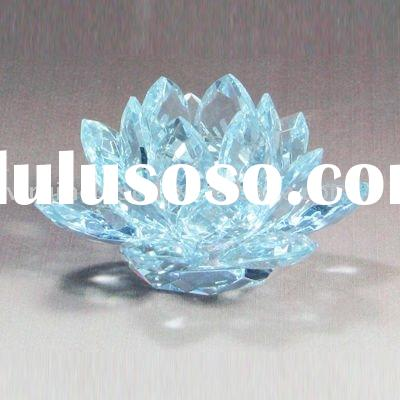 Clear Optical Crystal Lotus Flower Gifts Wedding Favors