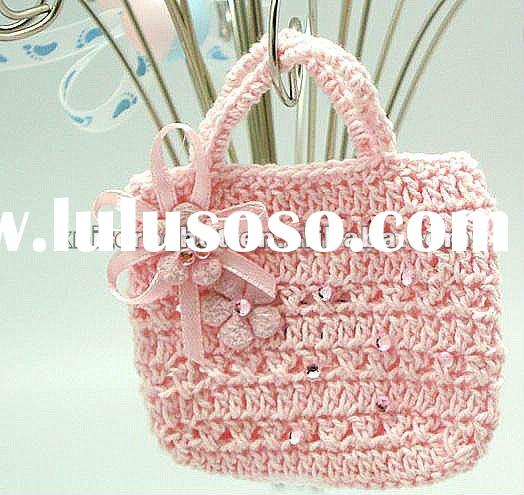 Crochet Mini Baby Shower Gift, Crochet Baby Mini Clothes Mini Bag Gift