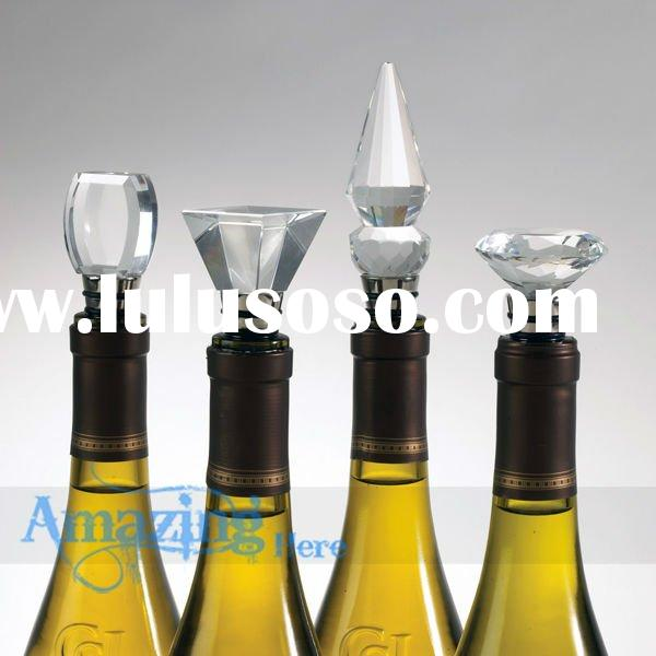 Crystal Diamond Wine Bottle Stopper Wedding Party Gift