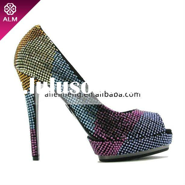 Crystal Ladies High Heel Shoes With Swarovski Shoes Paypal