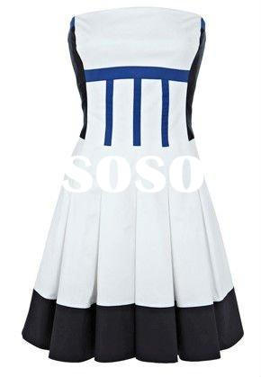 DL923 young girls party one piece dress designer hot selling