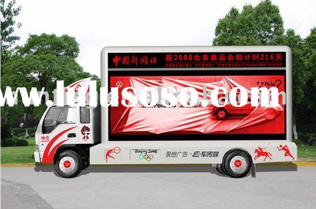 Double side Truck LED display board Mobile HX-P20 LED display Trailer LED display panel