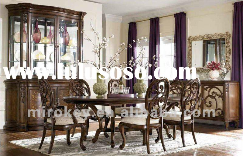 Elegant Dining room set include dining table,chair and buffet
