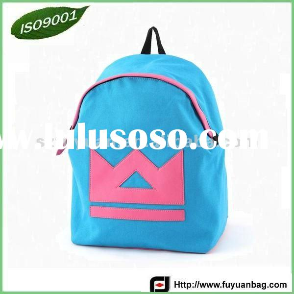 Fashion Canvas School Backpack (ISO9001)