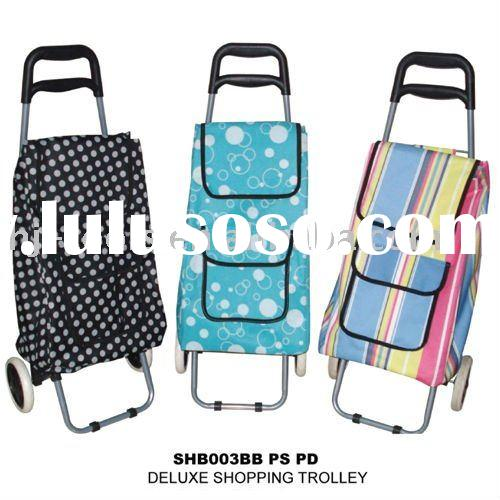 Folding Reusable Shopping Grocery Laundry Trolley Cart