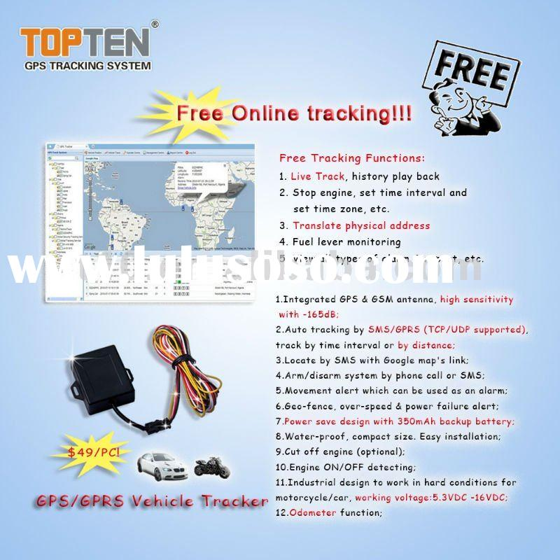Free Online tracking service! Car gps tracking system, track a car online softwarwe TS03
