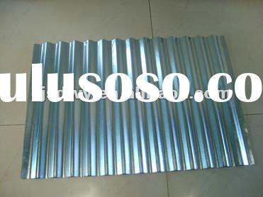 Galvanized sheet metal roofing