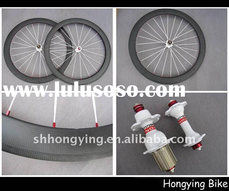 Hand built 50mm carbon clincher wheels 700c
