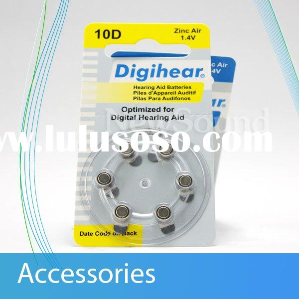 Hearing aid batteries of all kinds