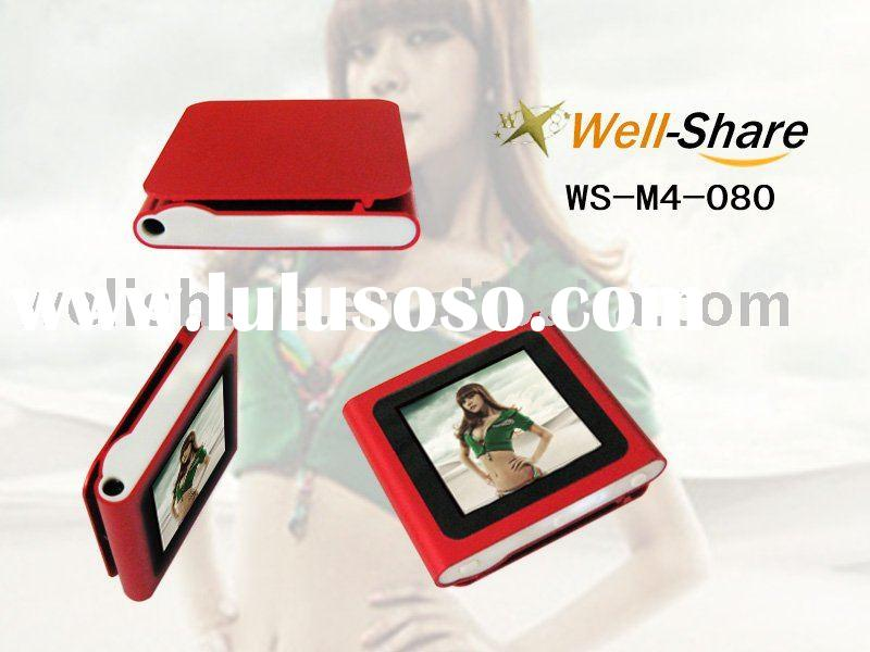 Latest 1.5/1.8 touch clip mp4 player with micro sd/tf card, 6th generation mp4