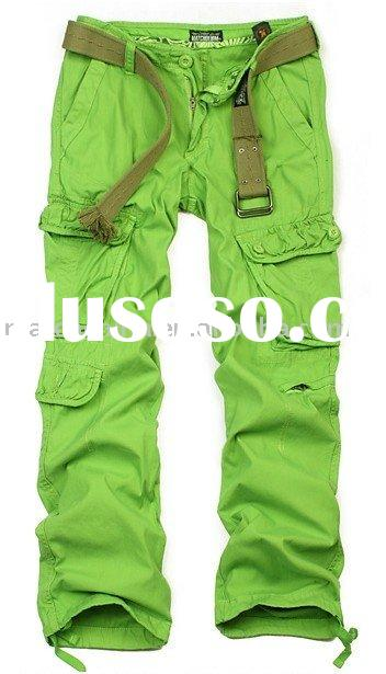 lime green cargo pants - Pi Pants