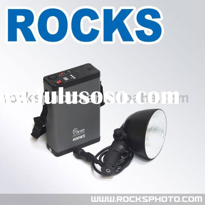 Pixco EX400 400W Mobile Lamp Handy Bowl Flash Strobe Light for Outdoor Photography