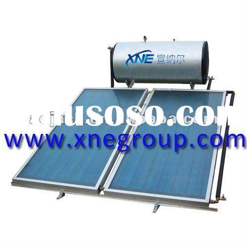 Pressurized thermosyphon flat plate panel solar water heater