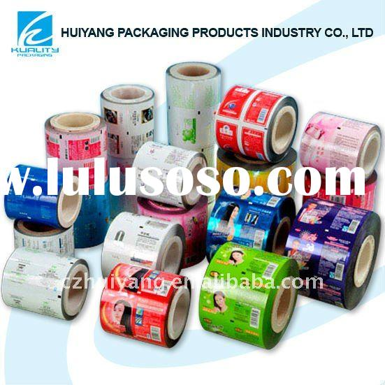 Printing plastic roll film flexible packaging for sugar pouch