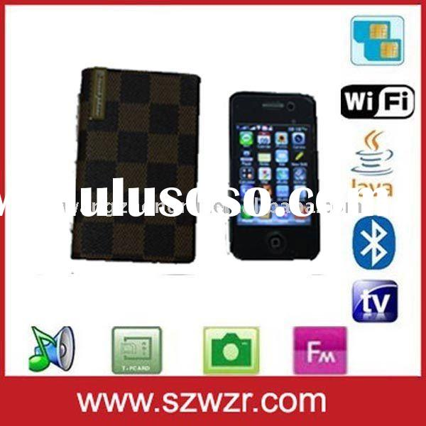 Quad band T8000 touch screen slider mobile phone with WIFI and TV