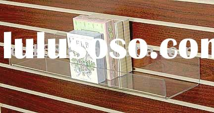 Slatwall Acrylic book holder/book dispenser/book shelf