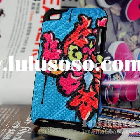Supply Fitted Artsprojekt for iPod touch case Damask Drip (Tangy!)
