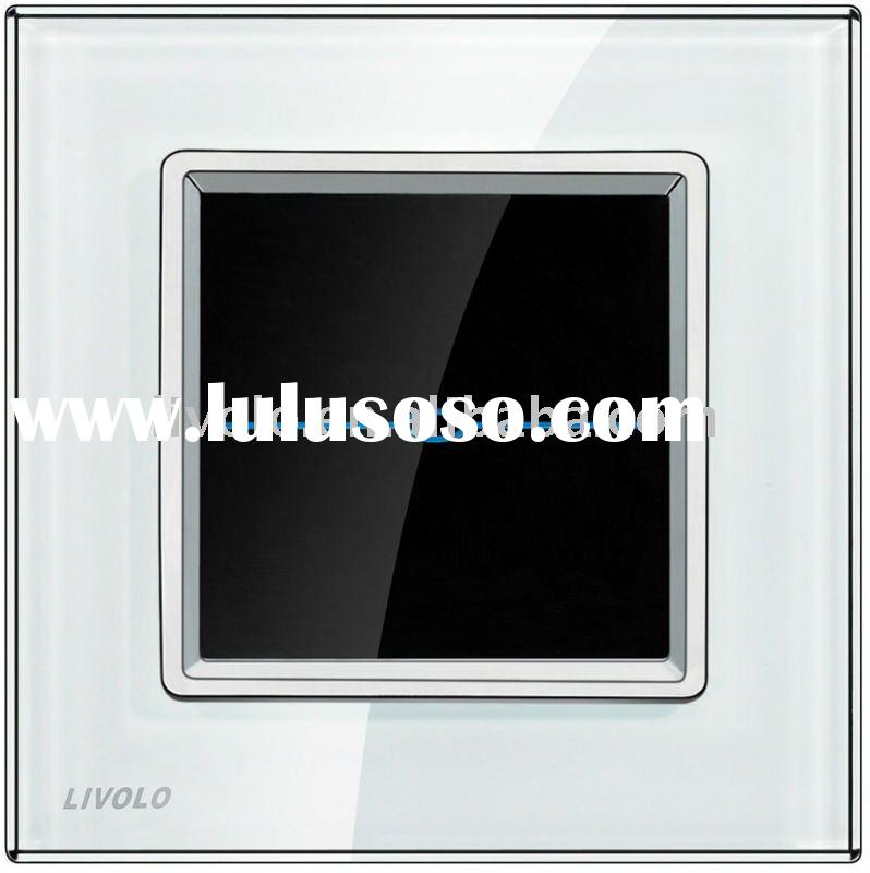 VL-R101D-SWC Dimmer Switch Touch Screen Light Switch White Glass